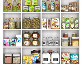 Cupboard with food 3D