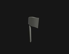 3D asset Axe Hatched