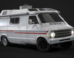 3D asset 1967 Dodge Tradesman B100 Games Model