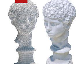 3D asset Plaster head of a Libyan boy 126