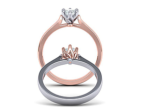 Own design Classic Solitaire ring Printable