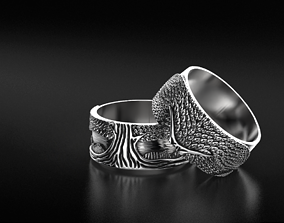 3D print model Stylish ring for a couple of lovers with 4