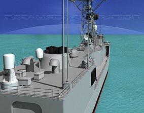 3D model FFG-2 USS Puller Perry Class Frigate