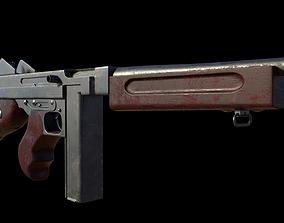 Submachine Gun Thompson M1928A1 3D