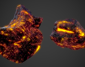 3D model game-ready Asteroids Pack