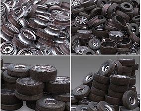 Junk Yard Tire Pile 3D model PBR