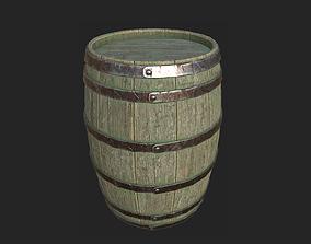 Barrel 3D asset realtime decoration