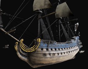 3D asset Royal Sailboat