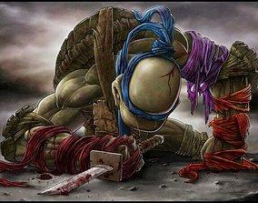 Battle Leonardo TMNT Fan Art for 3D Print