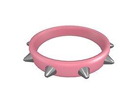 3D asset Spiked Collar v1 013