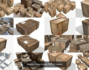3D model Wooden Cargo Crates PBR