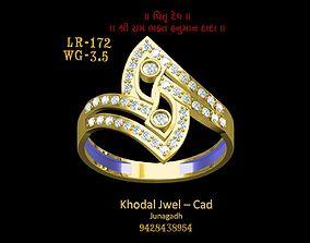 3D model VR / AR ready fashion-ring goldring ladies ring