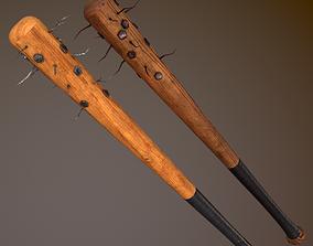3D asset Bloody and Dirty Baseball bat