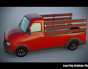 Low Poly Vehicle - PickupTruck 3D model