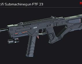 3D asset Scifi Submachinegun FTF 23