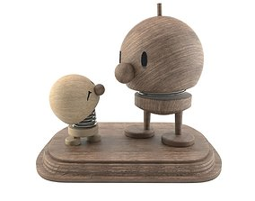 3D Wooden men