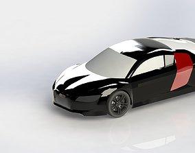 Audi R8 model on Solidworks 3D
