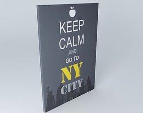 Keep calm canvas Apple houses the world 3D