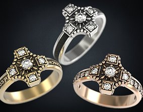 3D printable model Rings three types of conservation and 2