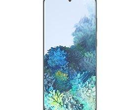 Samsung Galaxy S20 Cloud Blue 3D asset