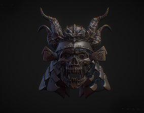 3D printable model Demonic Samurai Mask