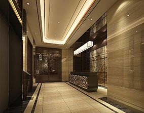 Hotel reception hall design complete 01 3D