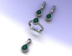 3D print model entourage jewelry