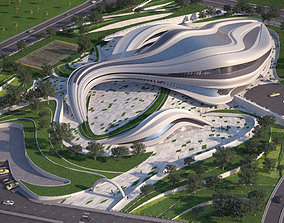 3D model Futuristic building modern