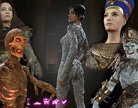 medieval 3D model Mummies and Pharaohs