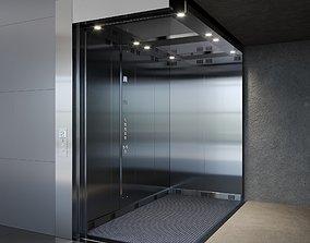 3D model stainless PASSENGER ELEVATOR