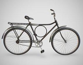 3D model game-ready Biycle - Monark Black