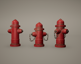 3D model Fire Hydrant Low Poly Game Ready