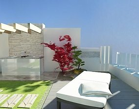 3D model Roof terrace