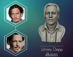 3D Sculpture of Johnny Depp 3D printable model