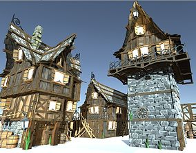 3D model Medieval Fantasy Town Kit