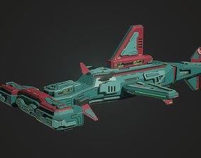 3D asset Sci fi hammerhead spaceship