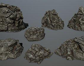 stone cliff rocks 3D model VR / AR ready