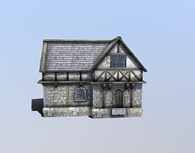 Medieval Tudor House 05 3D asset game-ready