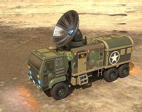 3D asset Animated Radar Truck