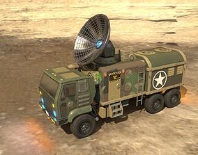3D model Animated Radar Truck