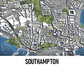 3D model realtime Southampton - Centre