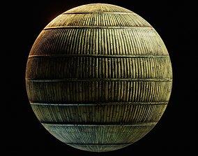 Bamboo wall material 3D asset