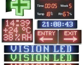 3D model LED display modules Set 02