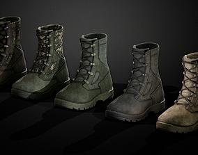 Military boots 3D asset