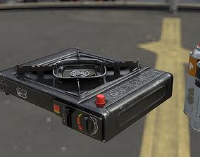 Portable Gas Stove 3D model