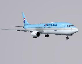 Boieng 737-800 Korean Air 3D model