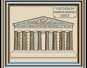 3D model Parthenon Panno STL File for CNC Relief engraving