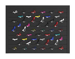 Market Shelf - Women Shoes 3D model