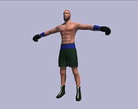 Rigged Boxer 3D asset