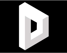 3D model Impossible Geometry - Reutersvard Rectangle
